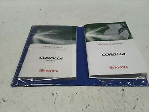 Genuine-Toyota-Corolla-Hatchback-2009-Owner-039-s-Handbook-and-Service-Log-Book