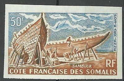 Cote des Somalis Bateaux Sambouk Boats Non Dentele Imperf Proof Essay ** 1964