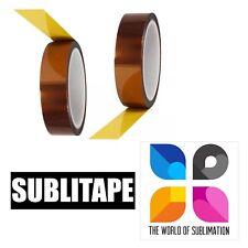 2 Rolls Heat Resistant Tape Sublimation Press Transfer Sublitape 20mm X 33m