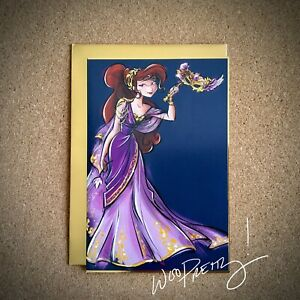 2019 Disney Designer Collection MEGARA Meg Art Note Card Midnight Masquerade