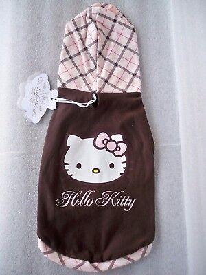 Abito Abbigliamento Cane Felpa Hello Kitty Della Fix For Pets Tg.l Aantrekkelijk Uiterlijk