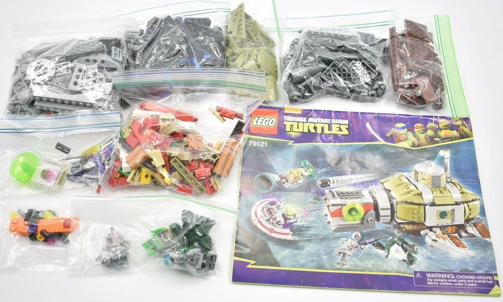 Lego TMNT  Turtle Sub Undersea Chase  TMNT 79121 100% Complete With Instructions 2014 51aec2