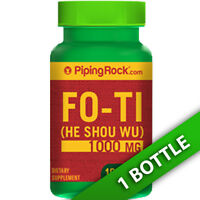 Piping Fo-ti Extract He-shou-wu Root 100 Caps 1000mg Polygonum Multiflor
