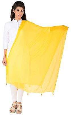 Yellow Dupatta Stole 100/% Pure Cotton Indian Traditional Ethnic Scarf For Women