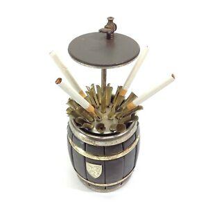 Vintage-Barrel-Shaped-Cigarette-Dispenser
