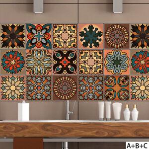 Wall Moroccan Style Geometric Symmetry Tile Sticker Diy