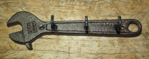 Hat Hook Cast Iron WRENCH Towel Coat Hooks Key Rack Tool Carpenter MAN CAVE