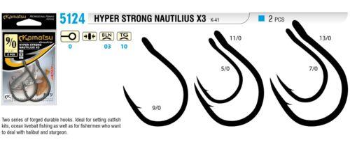 ami da pesca nuovo KAMATSU k-41 HYPER strong Nautilius x3 wallerhaken POWER Gancio