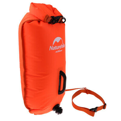 Inflatable Swim Buoy Safety Float Waterproof Air Dry Bag Open Water Swimm.hc