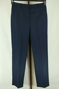 David Brooks Womens Ladies Navy Blue Straight Leg Casual Pants Size 8