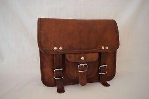 New-Mens-Genuine-Leather-Brown-Cross-body-Shoulder-Satchel-Messenger-Bag