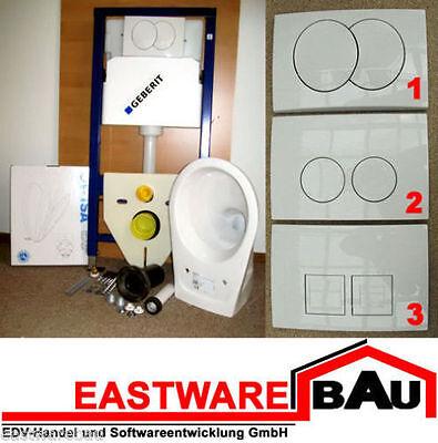 BATI SUPPORT GEBERIT DUOFIX UP 100 + WC + Lunettes de Toilette + Plaque Delta