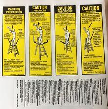Werner Lfs100 Fiberglass Step Ladder Labels