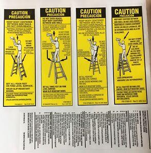 Werner Lfs100 Fiberglass Step Ladder Labels 51751101515 Ebay