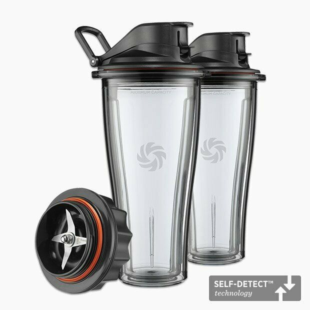 Vitamix Starter Kit 2 glasses to go with caps and Blade Set
