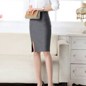 Womens-Slim-Vintage-Pencil-Skirts-for-Women-Cotton-Office-Lady-Slit-Skirt-Fomal