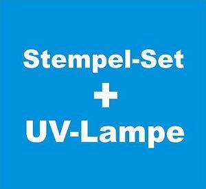 Stempelset-UV-Lampe-Stempel-Belichten-Set