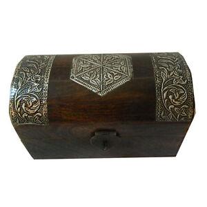 Coffret-pirate-19x11x11cm-brun-fonce-bois-de-manguier-boite-rangement-tresor