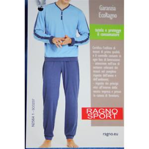 Ragno Man Pajamas Long Pure Cotton to Serafino 25641