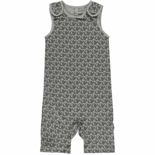 Maxomorra Baby Kinder Playsuit Gr.50-80 Spieler Jumpsuit Strampler grau neu!