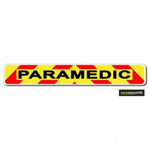 Magnetic sign PARAMEDIC chevron design Background and text vehicle MG146