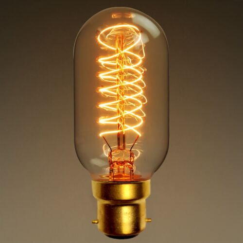 E27 B22 40W Industrial Vintage Dimmable Edison Filament Light Bulb Squirrel Cage