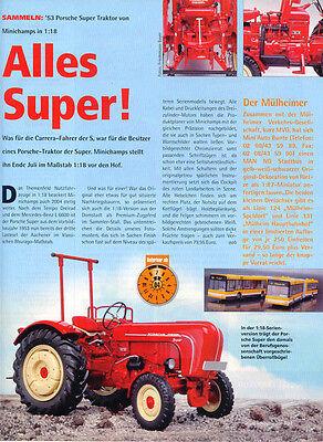 ' 53 Porsche Super Trecker, Trattore Di Minichamps... Un Modello Relazione #2004-in Modellbericht #2004 It-it Mostra Il Titolo Originale
