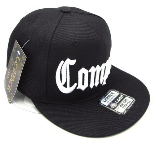 COMPTON Snapback Hat South Central Los Angeles City Cap Black OSFM NWT