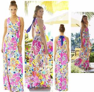 6669fdd39d5f2c NEW Lilly Pulitzer AMADA MAXI DRESS Multi Besame Mucho Pink Blue ...