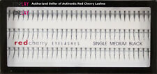 1 GENUINE RED CHERRY Medium Single Flare Individual Lash False Eyelashes Lashes
