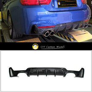 Carbon-Fiber-Rear-Bumper-Diffuser-For-BMW-F32-F33-435i-M-Tech-Quad-Out-2014-2018