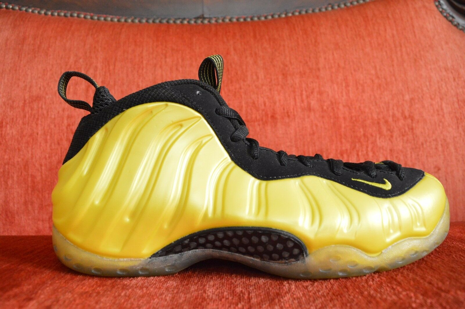 NDS Nike Foamposite One Electrolime Yellow Black Size 8.5 314996-330