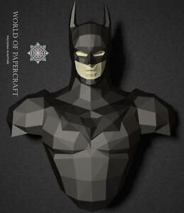 Details about PDF Pattern Batman 3D Superhero Paper Sculpture Papercraft  Pepakura Low Poly