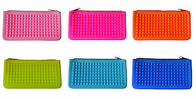 New Women Cute Purse Wallet Jelly Rubber Silicone Pink Colour Girls Clutch 17x9