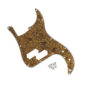 Brown Pearl 4-String P Bass Pickguard 13 Holes Scratch Plate For Precision Bass