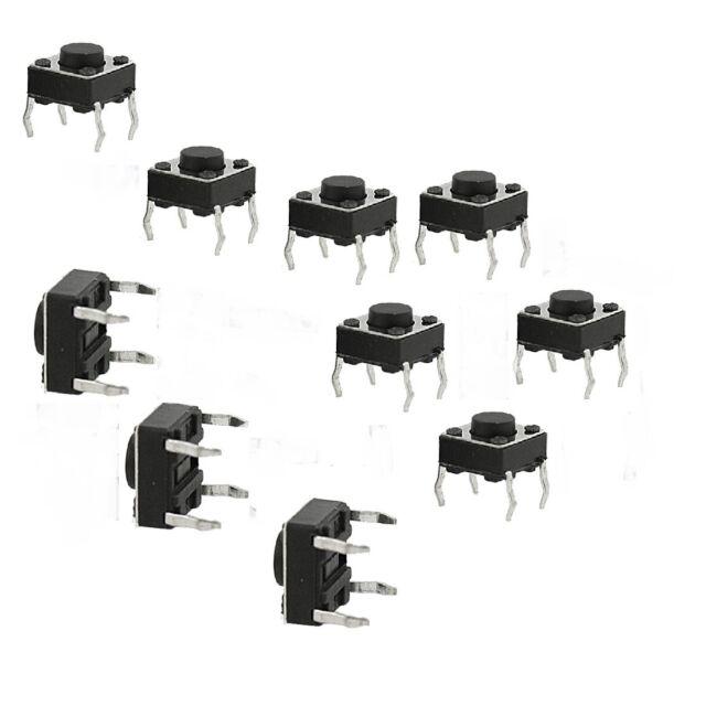 10x Arduino Breadboard Micro Momentary Tactile Push Button Switch 6x6x4.5mm