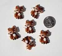 Fox Resin Flatbacks Embellishments Scrapbooking Hair Bows Crafts Glue On