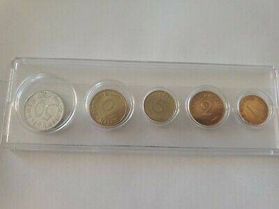2 5 /& 10 Reichspfennig coins 1937-1939 WWII #189 Set of  Germany 1