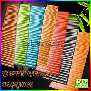 Tappeto bamboo 50 x 180 cm tanti colori passatoia antiscivolo cucina 13tpboodr18 ebay - Tappeto cucina bamboo ...
