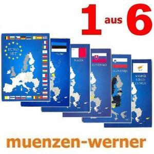 Leuchtturm-Sammelkarte-fuer-Euro-Muenze-KMS-1c-2-8-Kursmuenzen-Satz-Folder-Karte