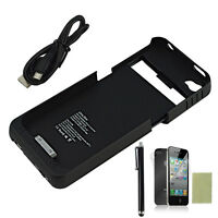 2500mAh Portable Battery Case Charger Power Bank for Apple iPhone 4 4S Black NEW