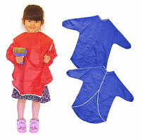 Childrens waterproof Apron Arts Crafts Play 1 - 13 yrs Smock paint long sleeve