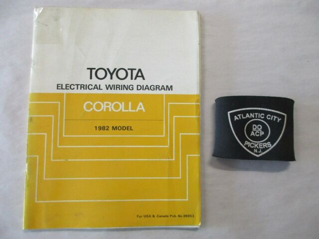 1982 Toyota Corolla Electrical Wiring Diagram Service Manual
