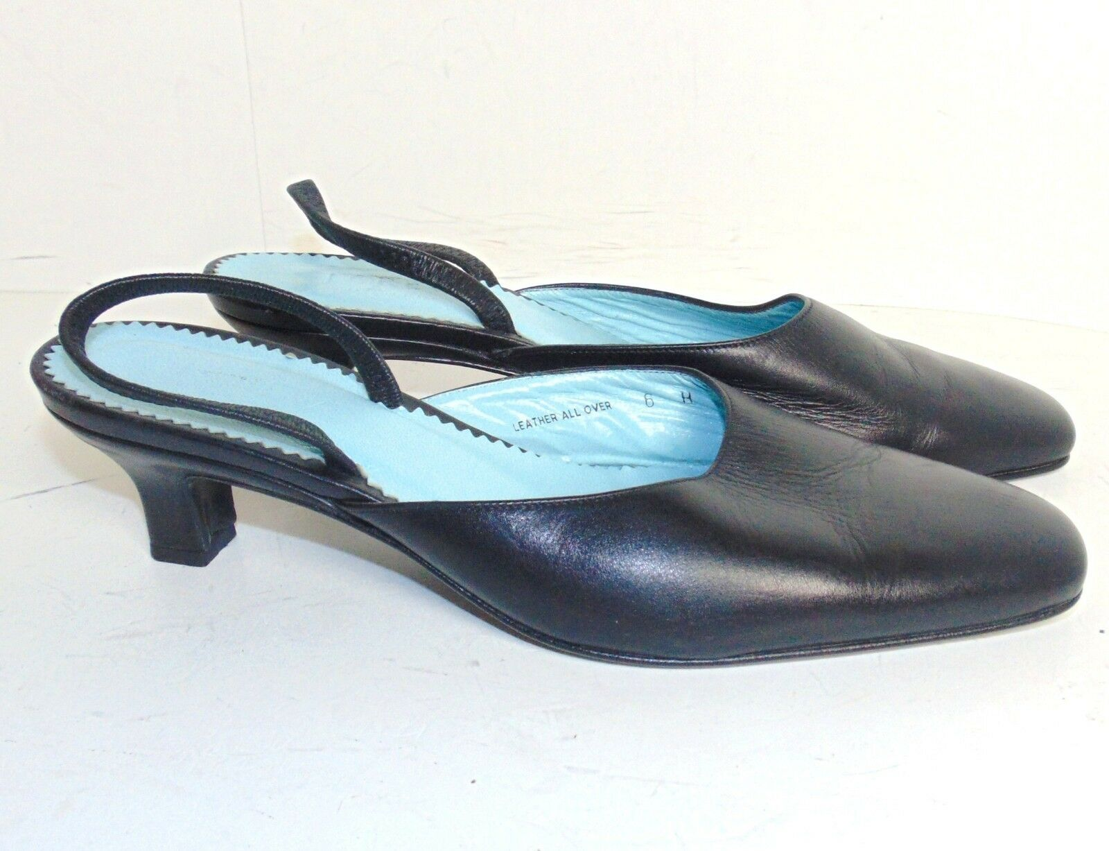 J.CREW 6.5 B $245 BLACK LEATHER SLINGBACK PUMPS $245 B 510a15