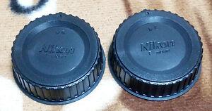 2x-Nikon-Rear-Lens-Caps-F-Mount-Dust-Cover-FE-F5-D5200-D610-D7000-D4-D3300-D810