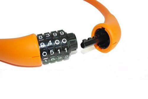 EyezOff EZ866 Bicycle Lock 4-Dial Cable Combination Lock All-Weather Orange 60cm
