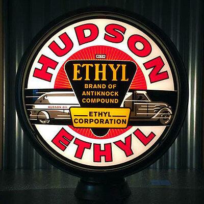 "Hudson Ethyl - 15"" Ltd Edition Gas Pump Globe Lenses -  Made by Pogo's Garage"