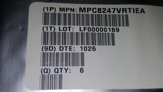 Freescale MPC8250ACZUMHBC  RISC MPU 32-Bit 266MHz 3.3V MPC8250A
