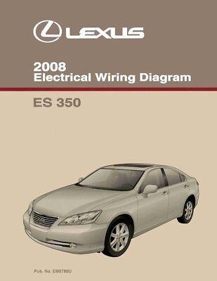 2008 Lexus ES 350 Wiring Diagrams Schematics Layout Factory OEM | eBayeBay