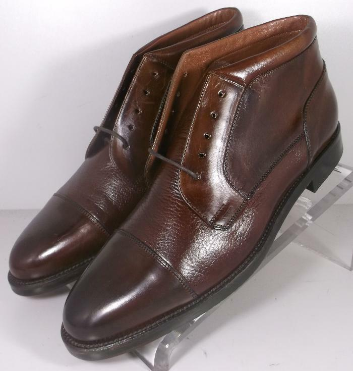 242130X FTiBT60 Mens Shoes Made in Italy Size 10.5 N Brown Boot Johnston Murphy
